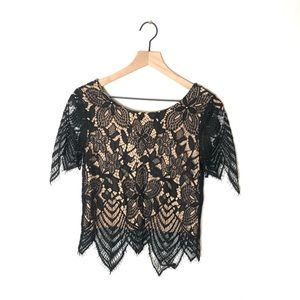 Express Black/Beige Blouse